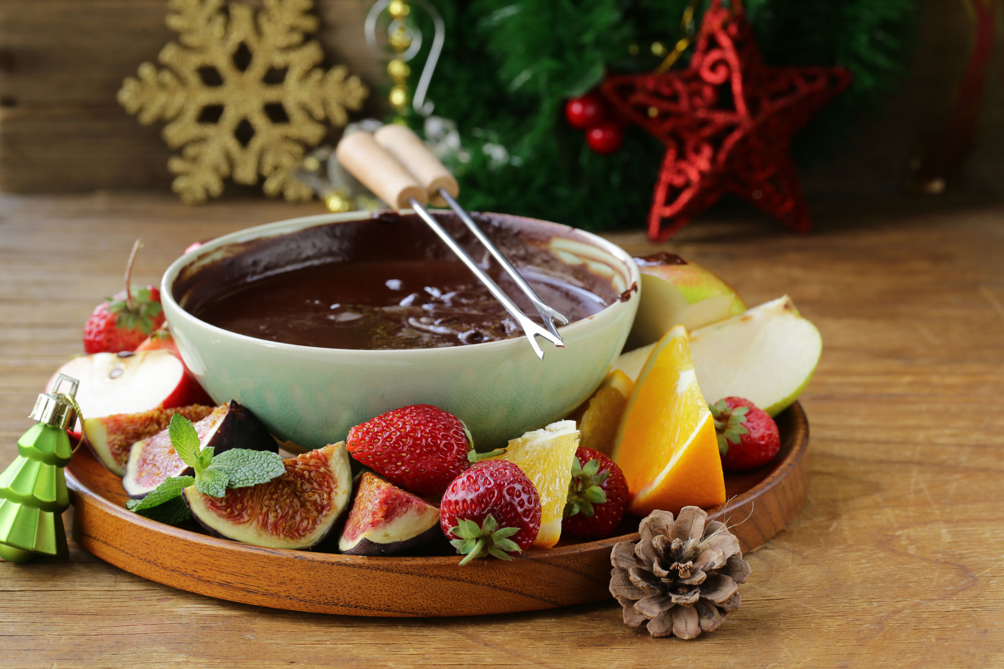 Christmas Eve Chocolate Fondue Farmers Dairy