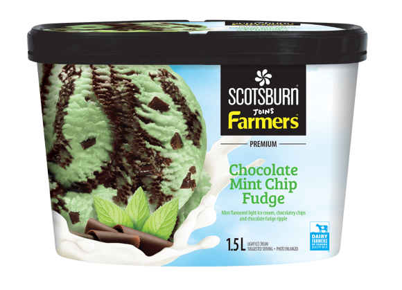Chocolate Mint Chip Fudge Scotsburn joins Farmers Ice Cream