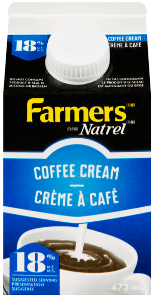 Farmers 18% Coffee Cream