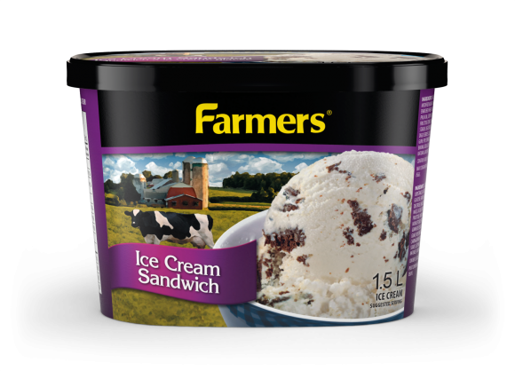 Farmers Ice Cream Sandwich Ice Cream