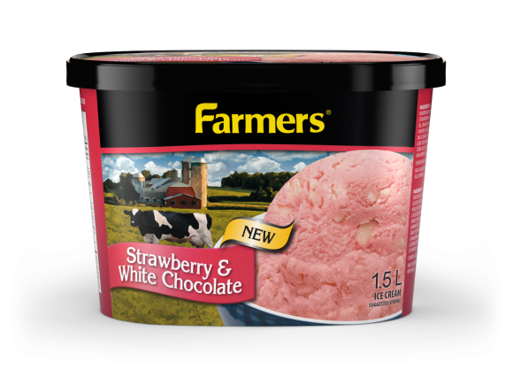 Farmers Strawberry and White Chocolate Ice Cream