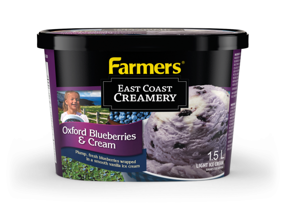 Farmers Oxford Blueberries and Cream Ice Cream