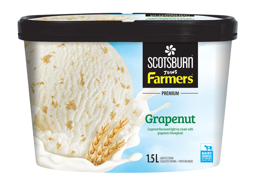 Grapenut Scotsburn joins Farmers Ice Cream
