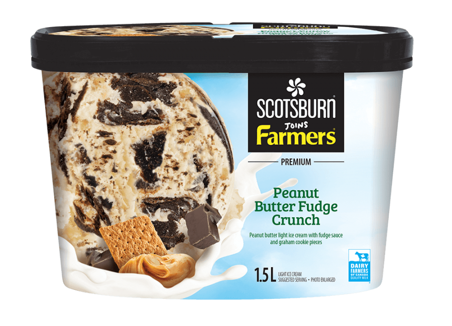 Peanut Butter Fudge Crunch Scotsburn joins Farmers Ice Cream