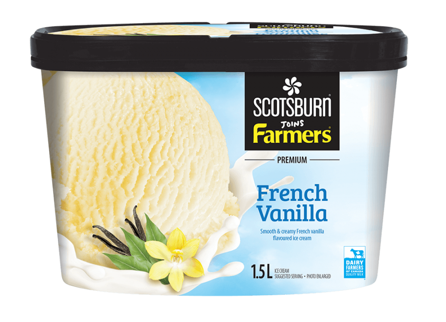 French Vanilla Scotsburn joins Farmers Ice Cream