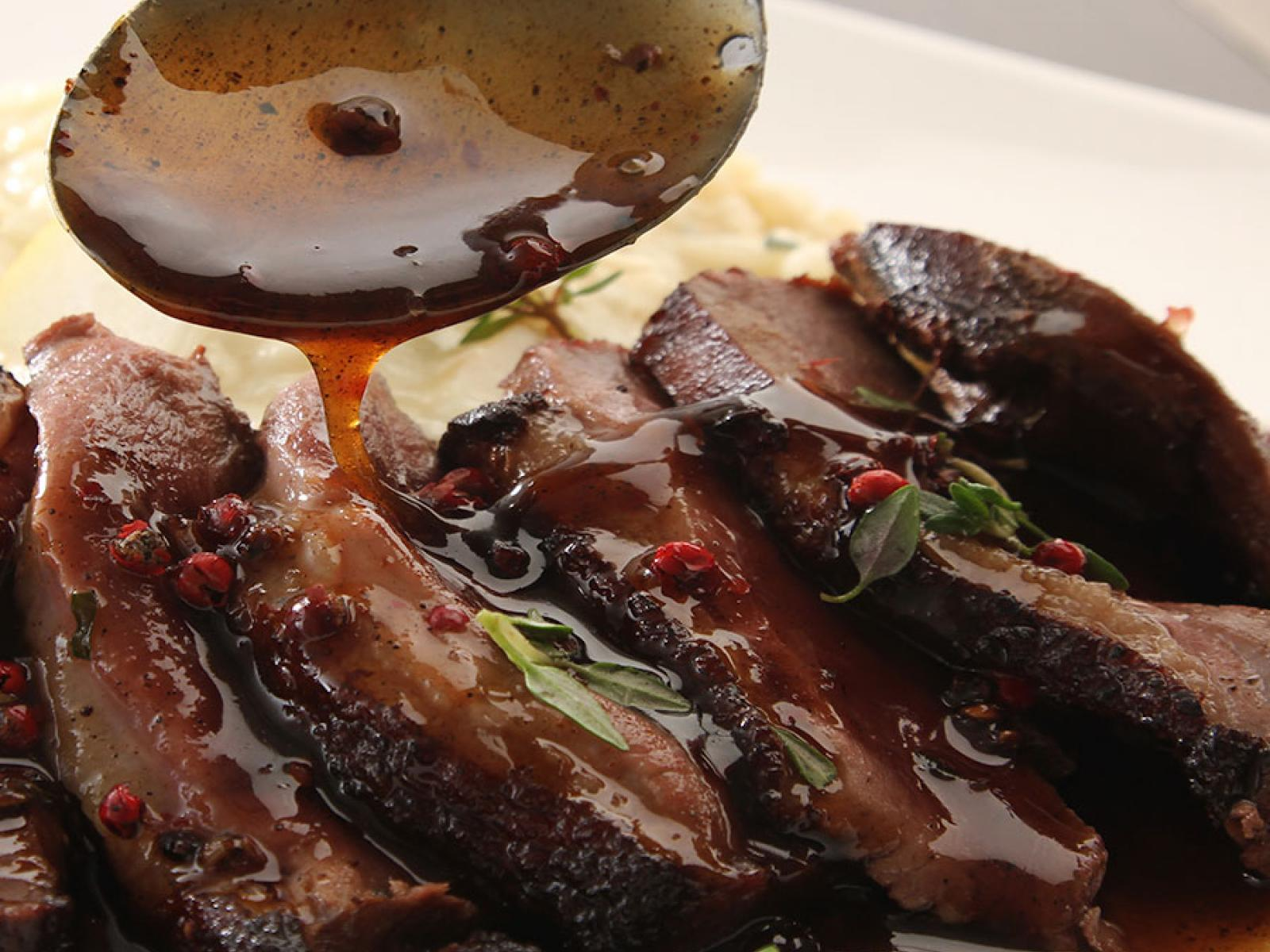 Duck Breast with Partridge Berry Sauce Recipe