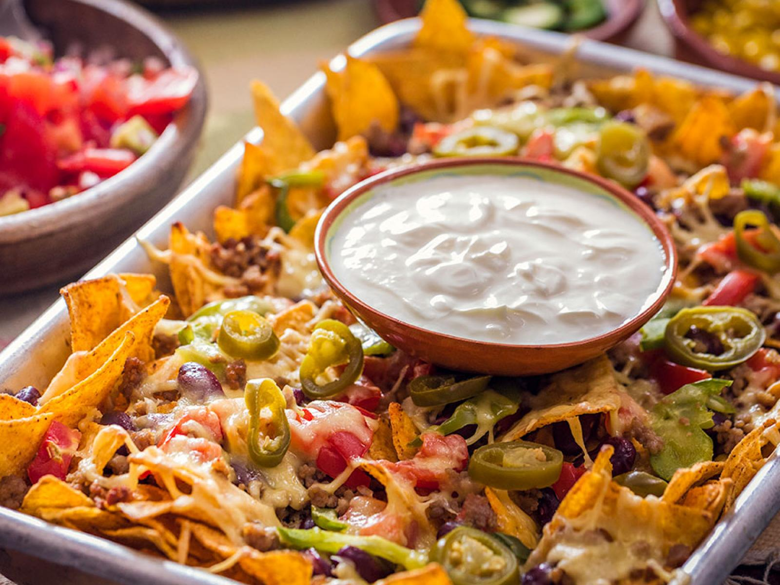 Nachos with Cheese & Tomato Salsa