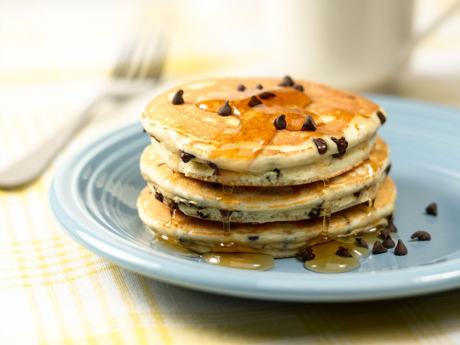 Chocolate Chip Eggnog Pancakes Recipe