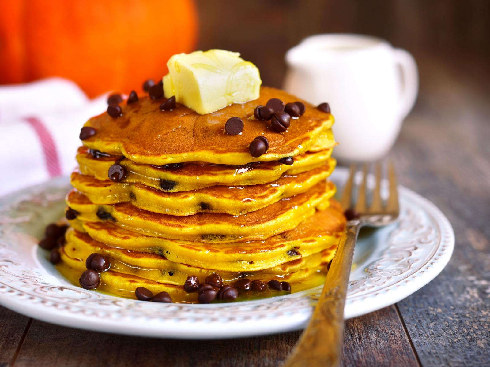 Farmers Egg Nog Christmas Day Orange-Chocolate Chip Pancakes Recipe