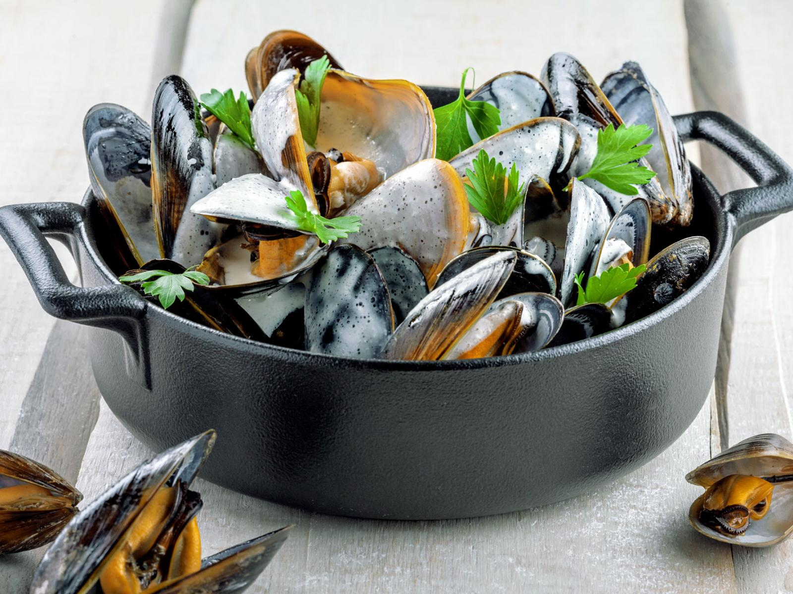 Steamed Mussels in a Cream Sauce Recipe